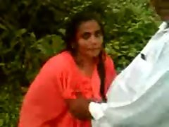 Mallu Aunty Caught Outdoors Waiting-SnM