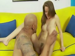 Step daughter gets treated by her alluring step father