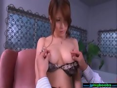 Whore Sensual Big titted Large melons Asian Get Nailed video-01
