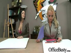 Filthy Office Chesty Lassie Banging Dirty video-09