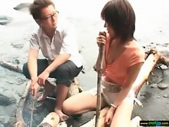 Wild Outdoor Sex With Bitch Asian Chick video-10