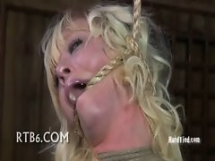 Sister Dee can be so cruel. Marina is a hot, willing bondage whore and so SD