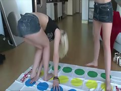 Sensual 18 years old ladies playing filthy game of twister