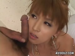 Gorgeous Asian gal smothered with penis on her face