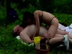 19 years old dirty diminutive gets in 69 to suck off older fatty perv outdoors