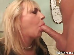 Filthy big boobed light-haired Mommy bitch gives part1
