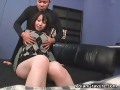 Sensual asian slutty girl with huge melons gets part3