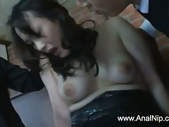 Unique Sensual japanese hussy masturbated