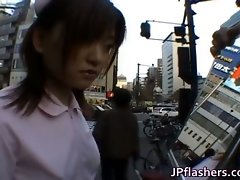 Slutty Asian girlie is pissing in public part4