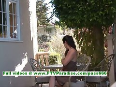 Liliana slutty dark haired teenage flashing hooters and having fabulous time
