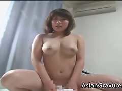 Filthy asian home teacher with big melons part5