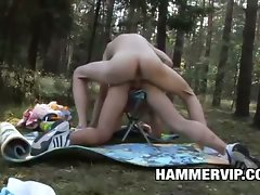 Dave Alis and Martin Bennett An Outdoor Bareback Banging Picnic