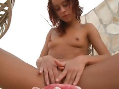 Two slutty russian coeds nude outdoor