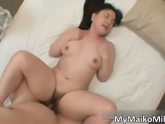 Plump asian dark haired hoe part1