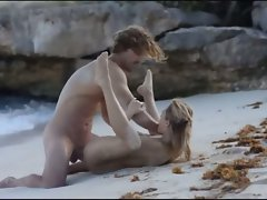 Exquisite sex on the beach in art movie