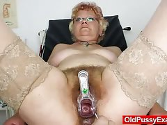 Furry vag gramma needs a twat examination