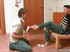Filthy filthy schoolgirl slutty girl gets her part1