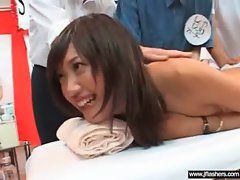 Stunning Attractive Asian Chick Flash Her Body And Fuck Outside video-16