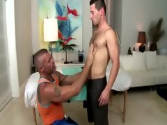 Straight butt rimmed by bear masseuse