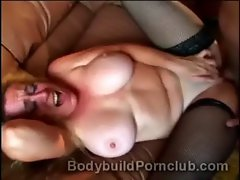 Bald thug pumps great body light-haired Anita Cannibal