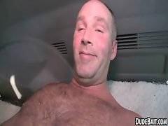 This sexual elder hunk gets his butt banged for the first time