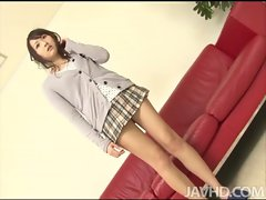 Shiori Uta is a sensual vixen that couldnt wait to have her cunt abused by two hor