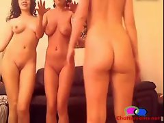 3 Ladies 3 Glasses and a Sleepover - Chattercams.net