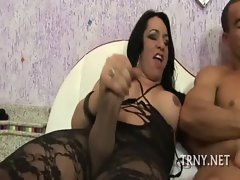 Sensual transsexual is brutally screwed