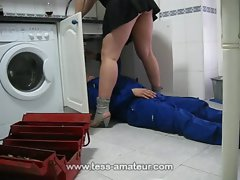 Banging with a plumber