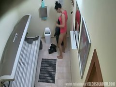 First Hidden Cam in PUBLIC SOLARIUM Worldwide