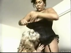 VINTAGE, BIG BLACK Thick Transsexual LETTING HER MAID SUCK HER BIG THICK COCK!