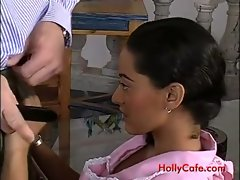 Rectal with filthy latin maid Paola