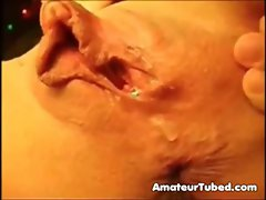 Pumped up clit play with cumming