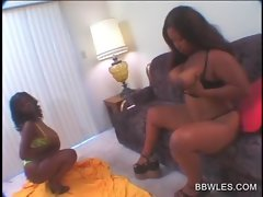 Buxom Obese lesbians vibing vaginas on the couch