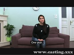 Casting Lewd Italian Girlie in interview