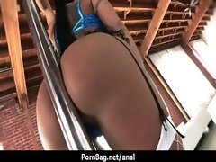 Pornstar has her stunning anal oiled up and screwed rough 24