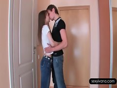 Attractive Ivana fellatio her boyfriends xxl big cock with lust