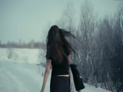 Alisa Shitikova Nude Snow Run in Me Too