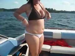 Amateur Fatty Twat Gets Banged On The Boat