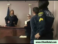 Cfnm femdom hussy receive loser to court