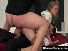 Eurotrash glam cunt gets wild dp