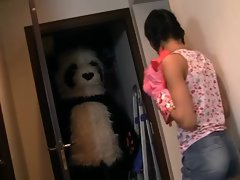 18yo lady strokes a enormous ebony pecker toy panda