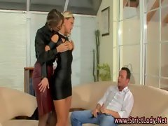Sexual lezdom domina watches bj