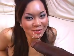 Filthy Asian Cutie fuck Biggest Black Pecker