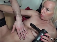 French attractive mature sextape doing a 18yo man