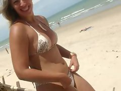 Gorgeous Filthy bitch at the brazilian beach