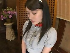 Randy japanese Schoolgirl Gets Disciplined With The D
