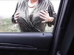 Misterous Mega tits Aged in the car