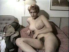 Vintage Amateur Demonstrates Her Big melons And Shaggy Cunt