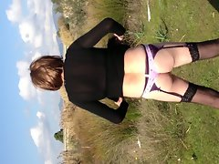 Outdoor crossdressing